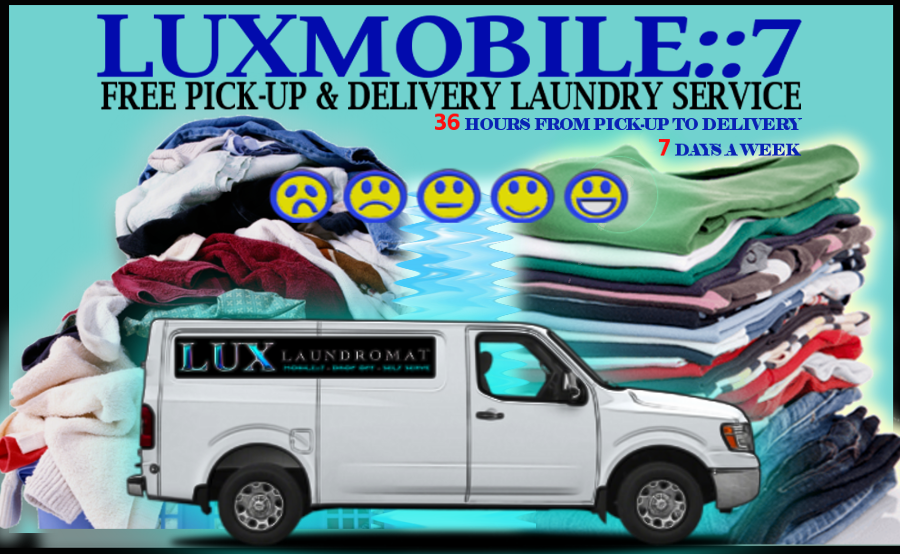 LUX LAUNDROMAT RESIDENTIAL SERVICES WASH | DRY | FOLD PICKUP & DELIVERY