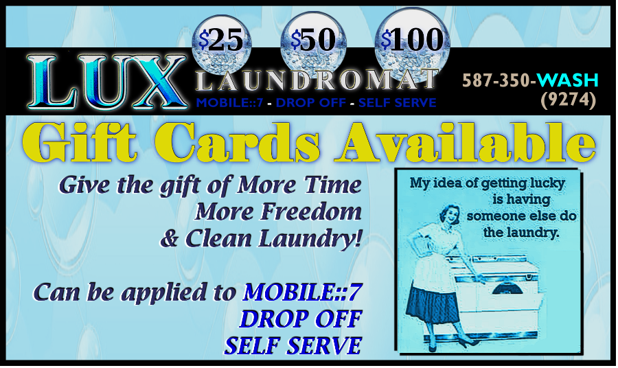 LUX LAUNDROMAT GIFT CARDS